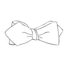 Le noeud papillon ``Bords pointus``