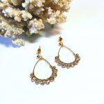 boucle cristal champagne or